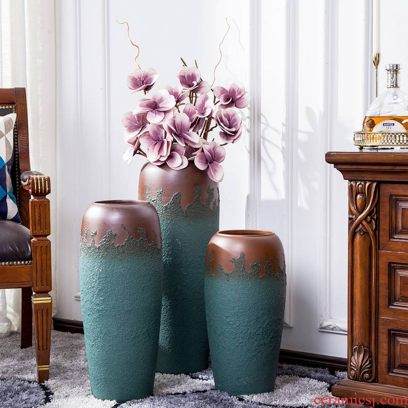 Large vase furnishing articles contracted and I sitting room flower arranging dried flower decoration ideas north European Large POTS decoration