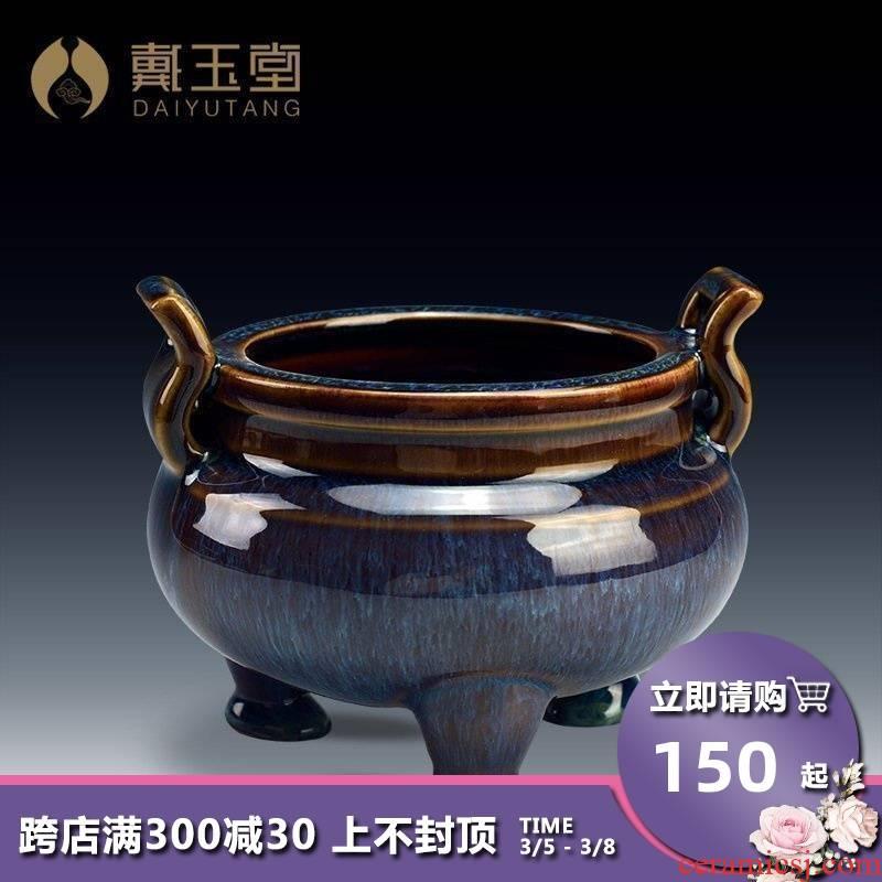 Yutang dai ceramic incense buner joss stick to worship Buddha indoor household archaize large Buddhism Buddha items furnishing articles