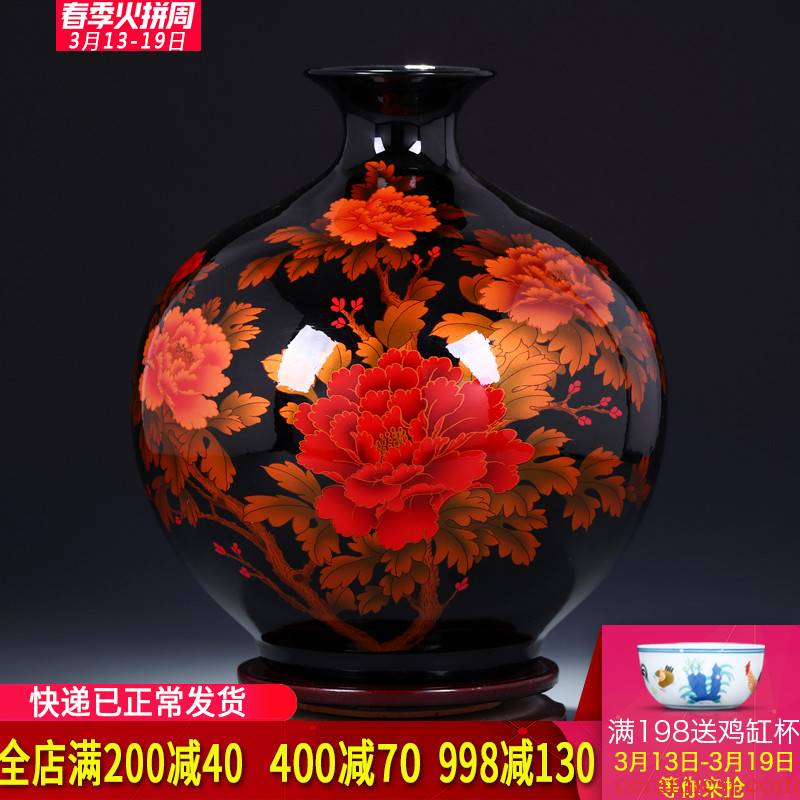 Jingdezhen ceramics, vases, flower arranging the sitting room of TV ark, wine porch home furnishing articles wedding gift