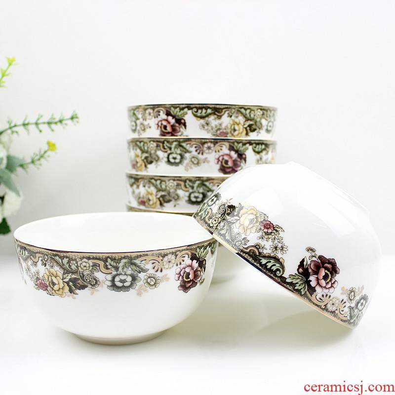 People 's livelihood industry English rose rainbow such as bowl five inches 5.5 inch 6 7 inches, 8 inch classic able to bear or endure look up phnom penh tableware soup bowl