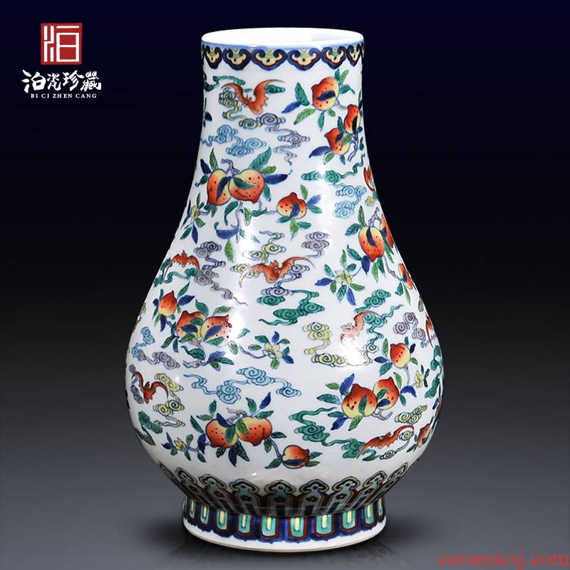 Jingdezhen ceramics imitation the qing yongzheng jubilee ShouFuLu Chinese bottle vase sitting room porch home furnishing articles