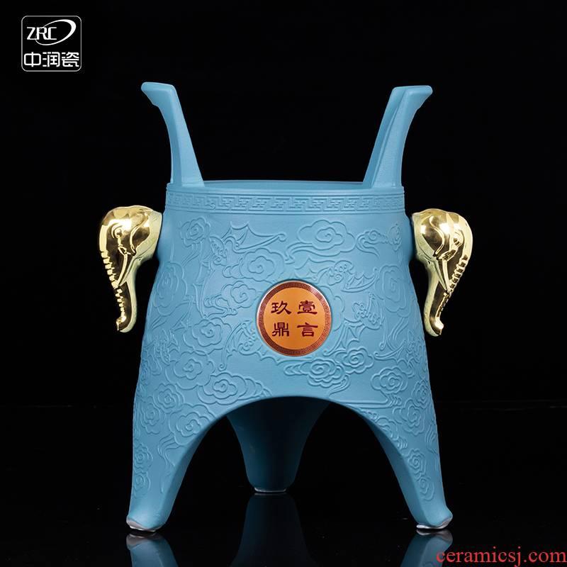 Jingdezhen ceramic jars creative bottle is empty wine bottle seal 10 jins to bronze jack gift customization