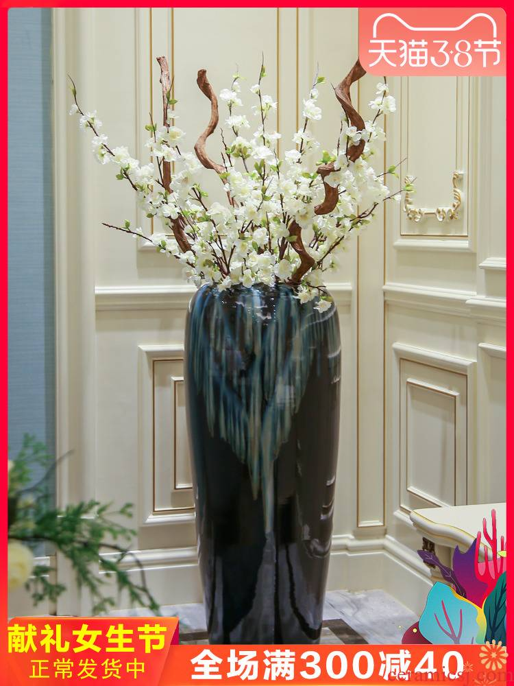 Jingdezhen ceramic vase of large European I and contracted sitting room of dry flower arranging hotel villa decoration furnishing articles