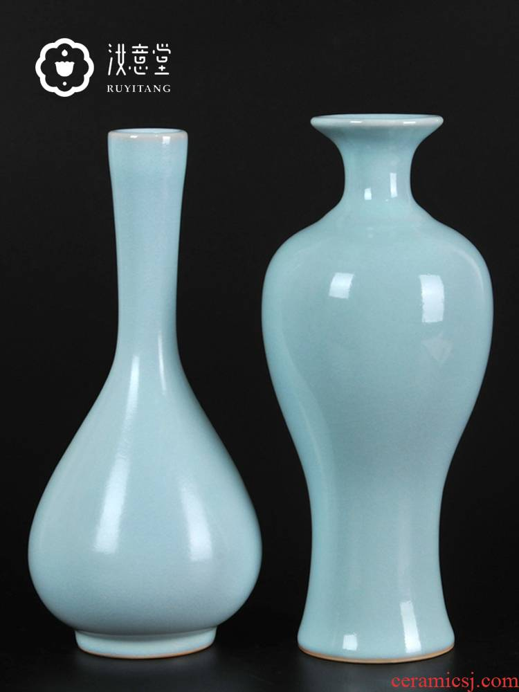 Archaize your up handicraft ru porcelain vase ceramic flower arranging flowers, restoring ancient ways is contracted home sitting room adornment is placed