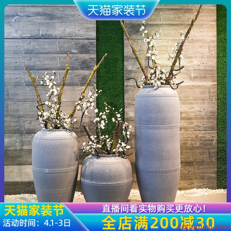 Jingdezhen Chinese style retro nostalgia the French club garden sitting room decorate ceramic flower vases hotel restaurant