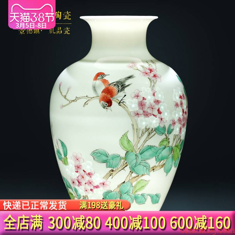 The Master of jingdezhen ceramics hand - made MeiKaiWuFu vases, flower arrangement of Chinese style living room home furnishing articles