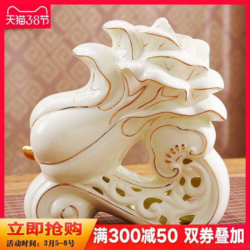 A new partnership in plutus furnishing articles wine home sitting room porch ceramic handicraft version into gifts