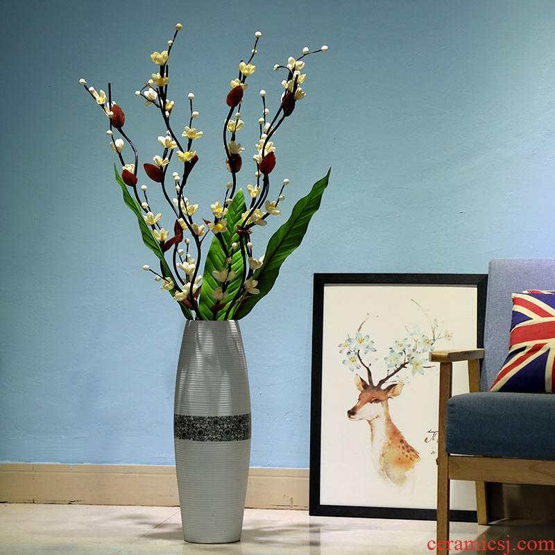 The ground simulation flower vase sitting room home decoration modern large - sized ceramic flower arranging dried flower vase creative furnishing articles