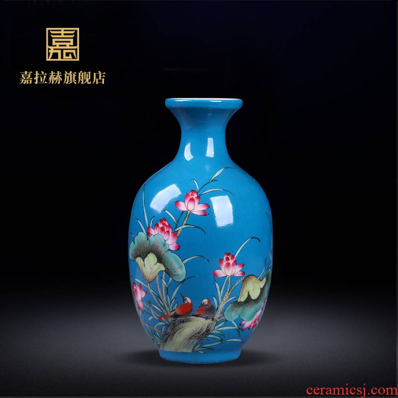 Jia lage archaize of jingdezhen ceramics powder enamel vase ceramic home sitting room adornment home furnishing articles