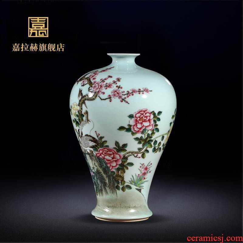 Mei jia lage jingdezhen checking antique ceramics famille rose porcelain painting of flowers and birds in bottle furnishing articles home sitting room porch decoration