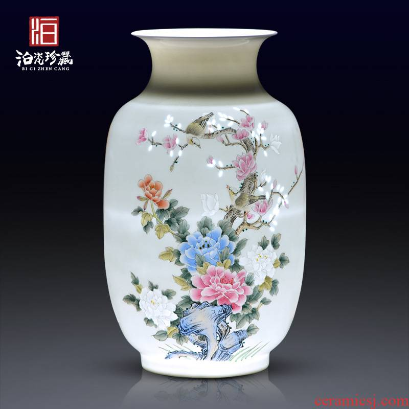 Jingdezhen ceramics hand - made dried flower flower vase modern furnishing articles bedroom sitting room adornment of Chinese style wedding gift