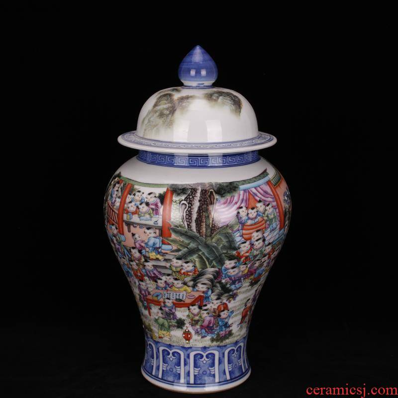 Jingdezhen imitation of yong zheng famille rose the ancient philosophers figure general tank Chinese antique antique living room a study company soft outfit furnishing articles