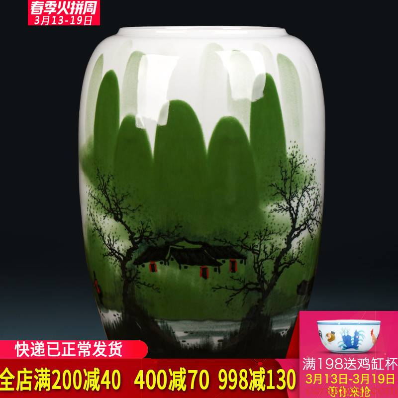 Jingdezhen ceramics hand - made antique Chinese vase the receive the sitting room is the study of calligraphy and painting scroll of painting and calligraphy barrel cylinder furnishing articles