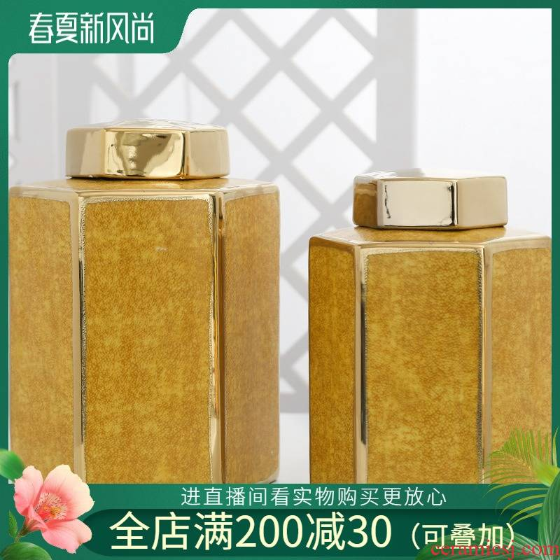 Jingdezhen ceramic vases, flower arranging machine sitting room home home furnishing articles, general tank storage tank is the hotel decoration