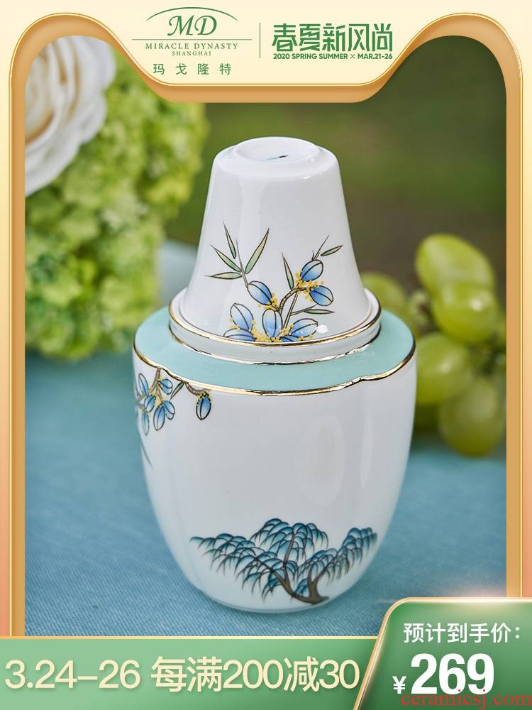 Margot lunt west lake feast wine 3 skull porcelain temperature suit household hot rice wine liquor flagon gift boxes