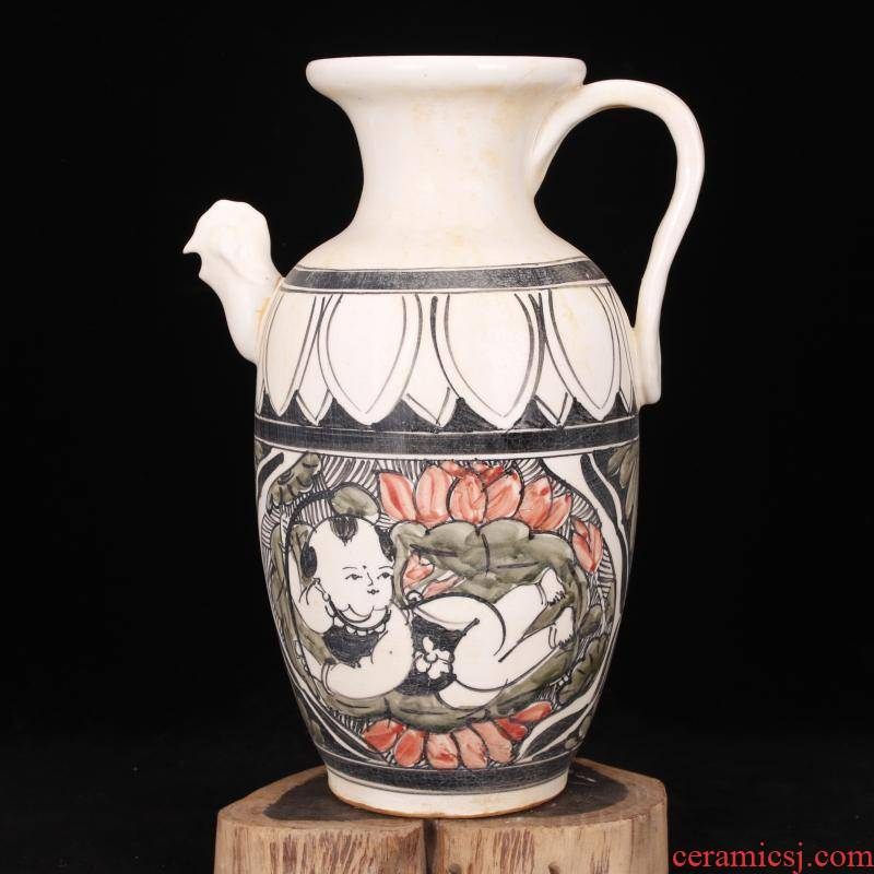 Jingdezhen magnetic state up antique imitation of the song dynasty unearthed cultural relics antique hand - made the game with a pot of restoring ancient ways home furnishing articles