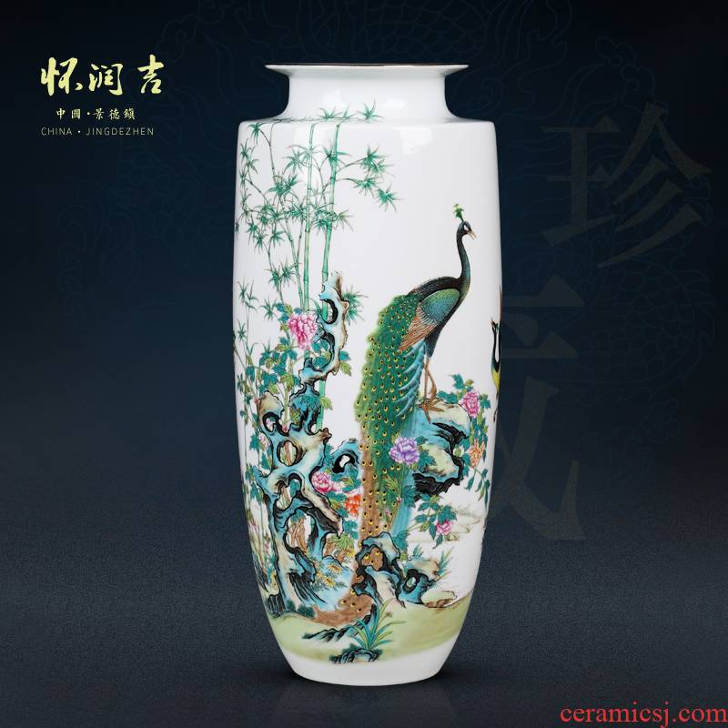 The New color and exquisite porcelain jingdezhen pervious to light the vase modern antique carpet of TV ark, porch is decorated furnishing articles