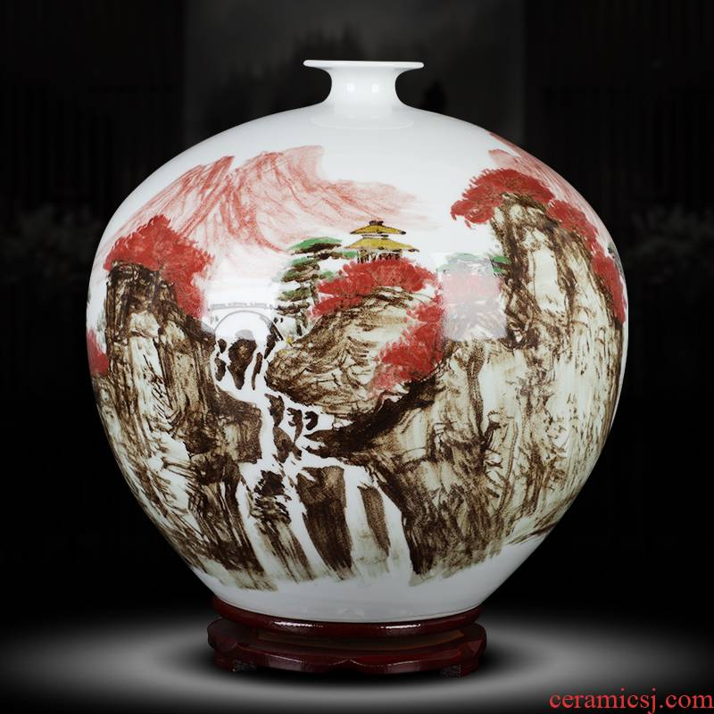 Chinese pottery and porcelain glaze color master craft vase hand - made under medium household study tea table decorations furnishing articles