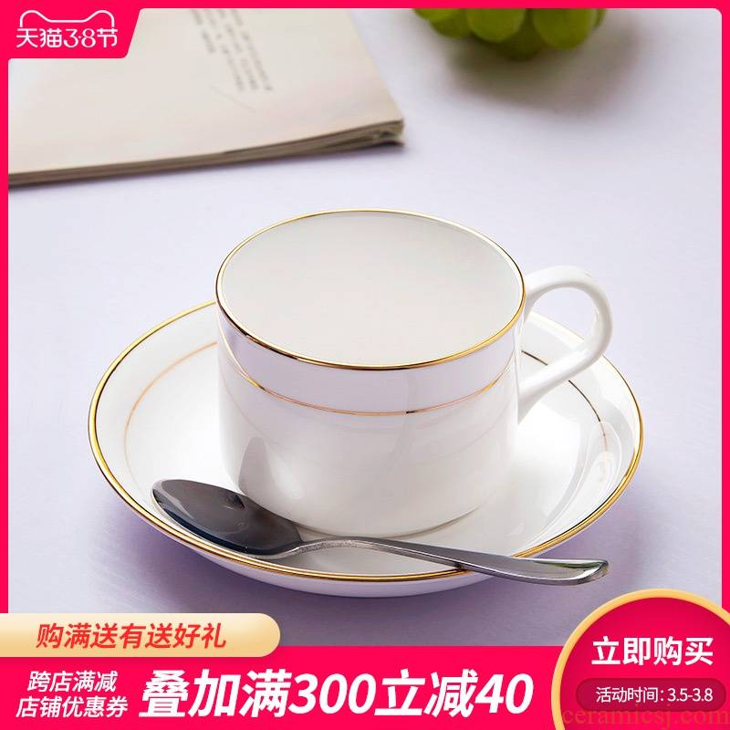 Jingdezhen coffee cup sets glass ceramic ipads China up phnom penh pure white European cup creative distribution spoons