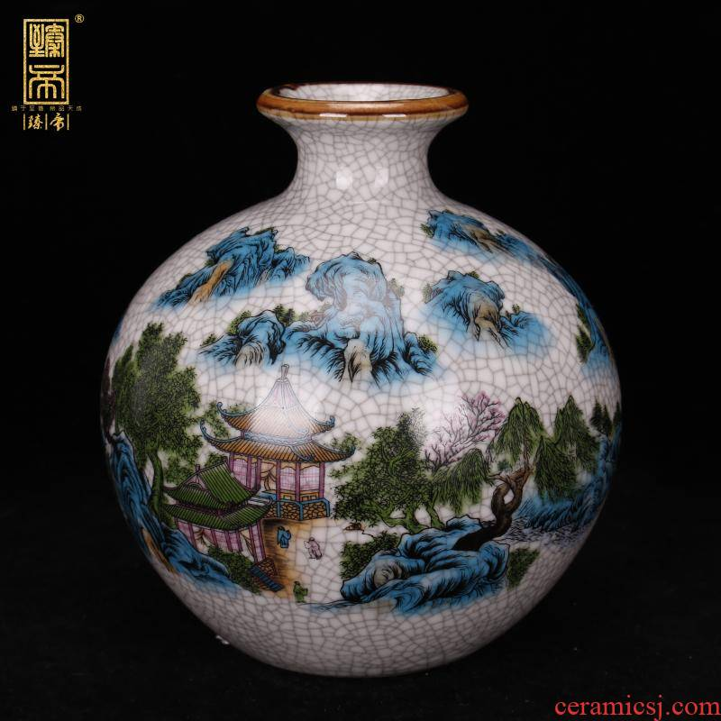 Jingdezhen imitation the qing qianlong on crackle pomegranate bottles of antique reproduction antique table ano decoration as old place