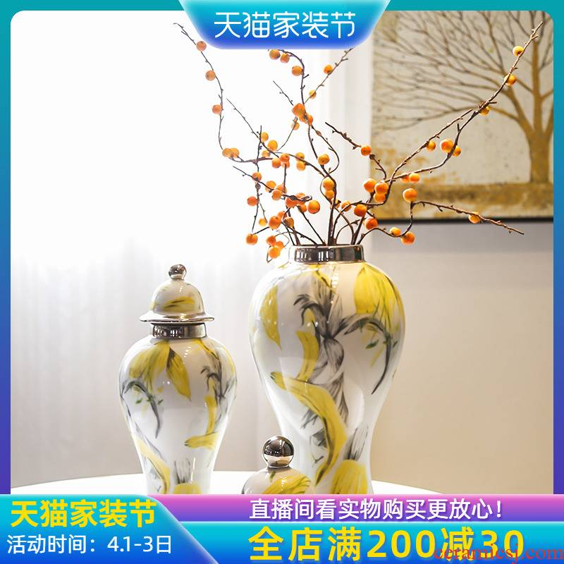 Jingdezhen new Chinese style originality general tank furnishing articles sitting room porch ark of TV ark of tea table and what soft outfit floret bottle