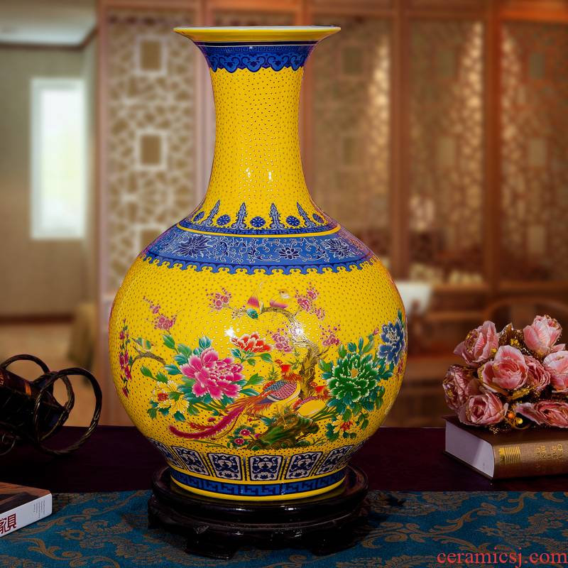 Jingdezhen ceramic sitting room ground put vase in the contracted and I European new homes home furnishing articles decorative arts and crafts