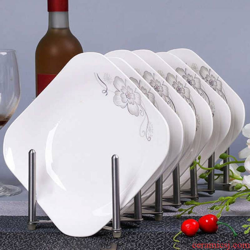 0 home square plate the ceramic plate suit disc food dish deep dish FanPan soup plate microwave oven