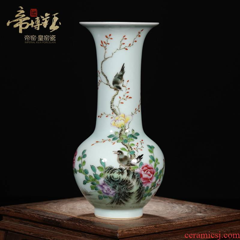 Jingdezhen ceramics antique hand - made blue glaze painting of flowers and black mushroom bottles of classic Chinese style collection process decorative furnishing articles