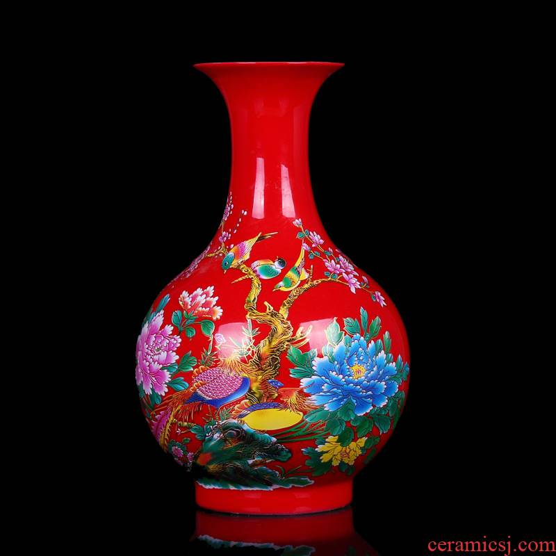 Jingdezhen ceramics glaze crystal than vase decoration of modern home living room handicraft furnishing articles every year