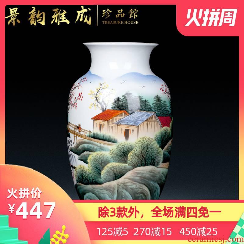 Jingdezhen ceramic hand - made ceramic vase celebrity famous Bridges porcelain modern home furnishing articles