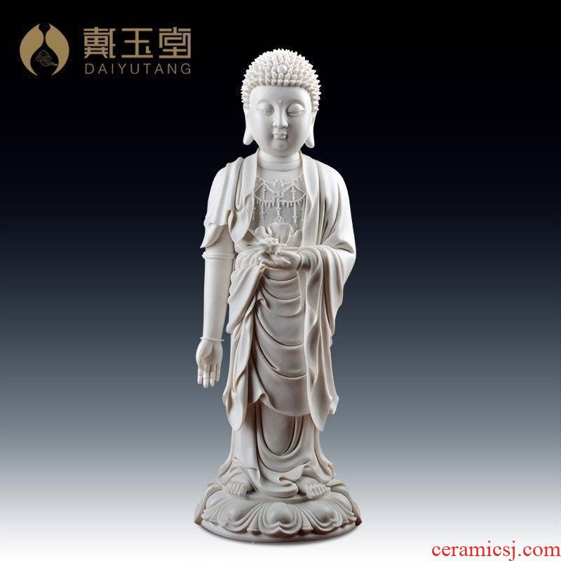 Yutang dai dehua porcelain its craft art collection in the sitting room place/amitabha D19-58