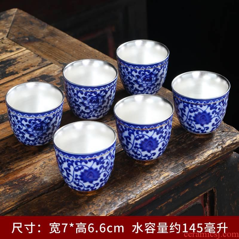 Dehua white porcelain suet jade hand - made ceramic single sample tea cup cup master cup kung fu tea tea set small household glass
