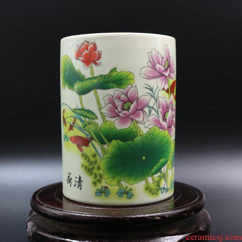 Archaize of jingdezhen porcelain powder wariety pen container to restore ancient ways in dajing com.lowagie.text.paragraph household adornment antique antique antique furnishing articles
