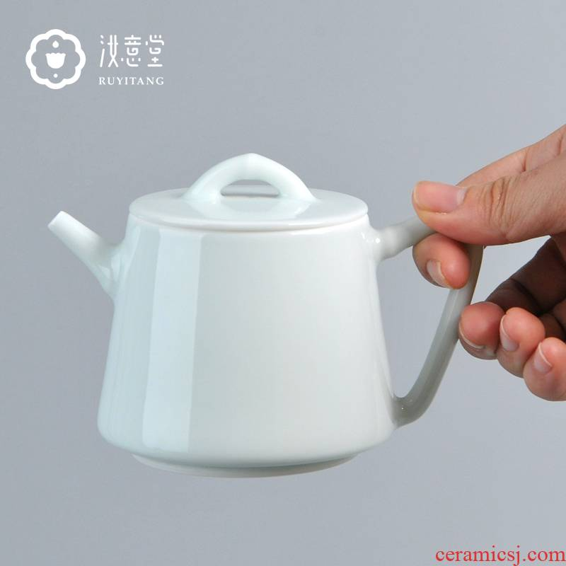 Jingdezhen ceramic teapot from single pot of white porcelain tea set teapot small white hand antique general pot