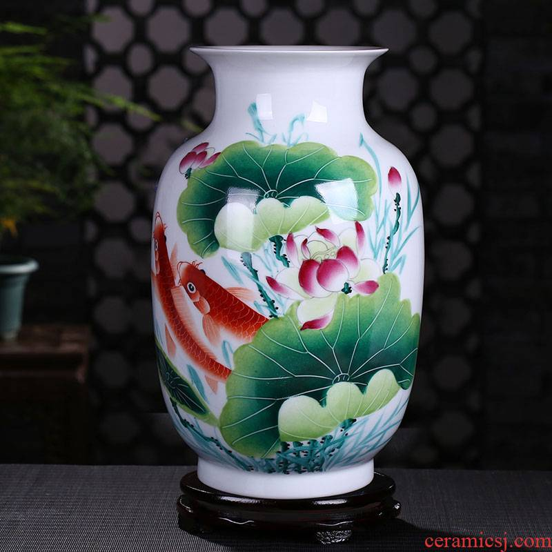 Jingdezhen ceramics famous hu, hand - made Dutch vase porcelain decoration modern home furnishing articles rich ancient frame