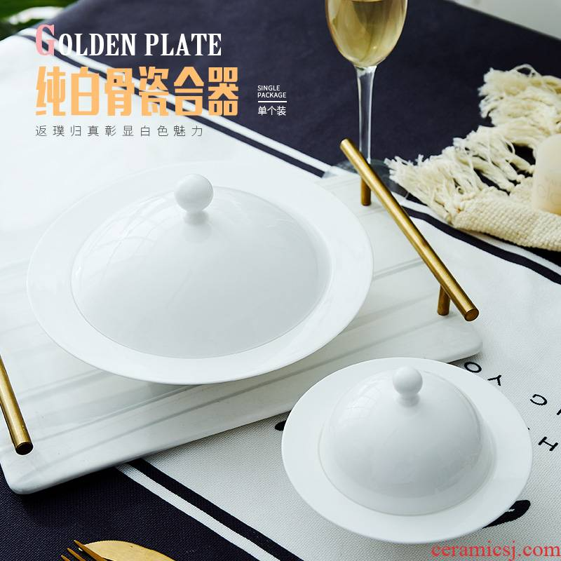 Ipads China net them red dish new home with cover the creative Chinese dishes soup bowl dish of jingdezhen ceramics