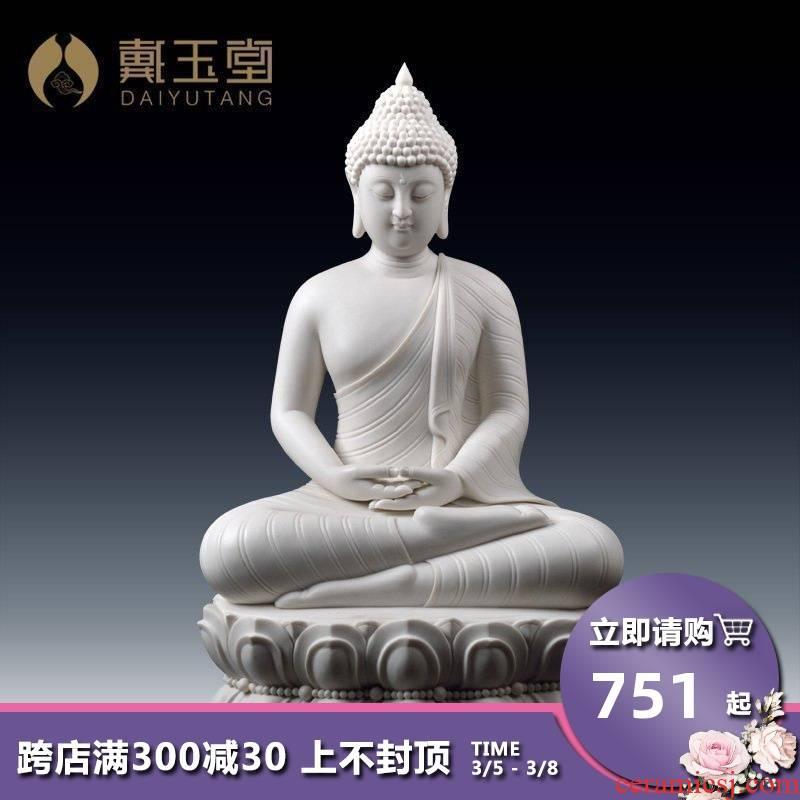 Dehua porcelain its art yutang dai southeast Asia figure of Buddha sitting room to furnishing articles/Thai Buddha D26-20