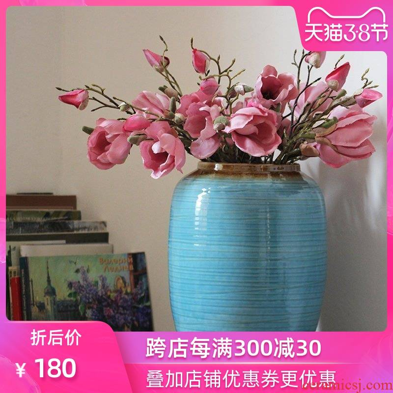 Household adornment art show I and contracted jingdezhen ceramic vase Mediterranean furnishing articles sitting room vase