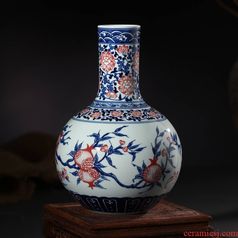 Jingdezhen ceramics archaize youligong vase many children f tree home decoration process sitting room furnishing articles