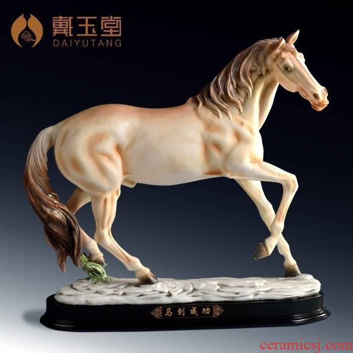 Yutang dai ceramic handicraft furnishing articles furnishing articles commerce and office gift to send the led/success D09-08