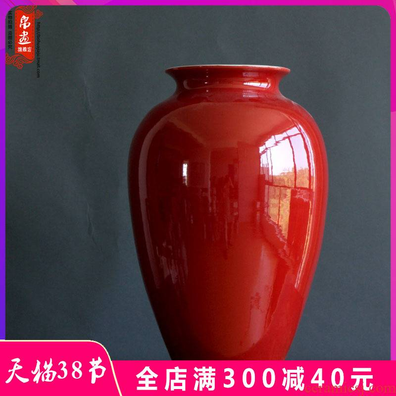 Chinese ceramics grain dry flower vase red flower arranging jar, furnishing articles furnishing articles jingdezhen porch is the key to the receive