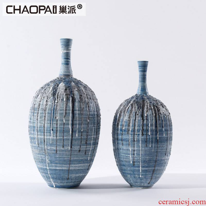 Thick ceramic thin expressions using style hotel club hallway closet a flower vase furnishing articles of modern porcelain decoration