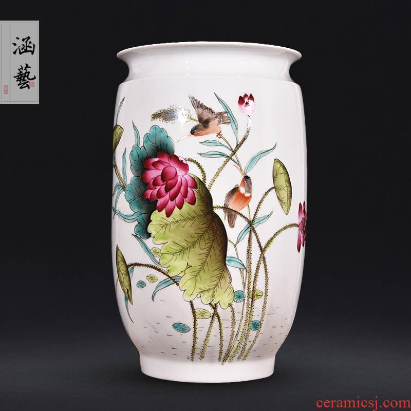 The Master of jingdezhen ceramics hand - made furnishing articles HeCu vases, antique Chinese style living room the wind flower arrangement craft gift