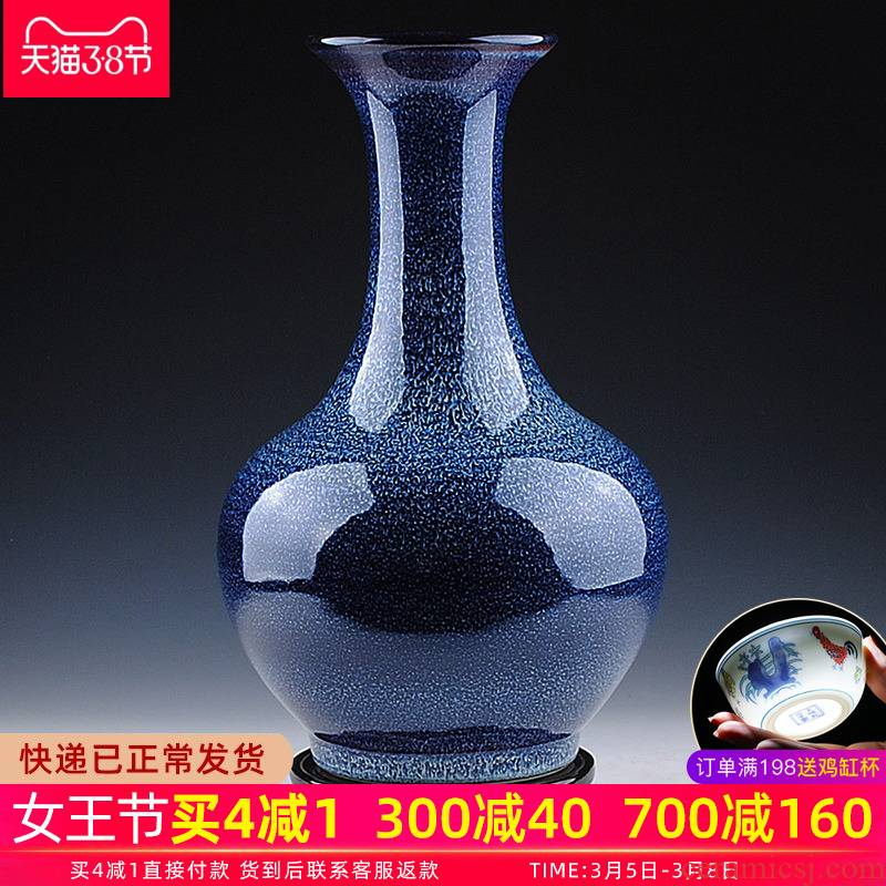 Jingdezhen ceramic vase furnishing articles creative variable blue porcelain porcelain flower arrangement sitting room Chinese style household ornaments