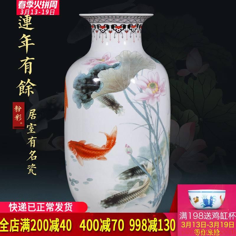 Jingdezhen ceramics of large vases, flower arranging, the sitting room porch place large TV ark, home decoration
