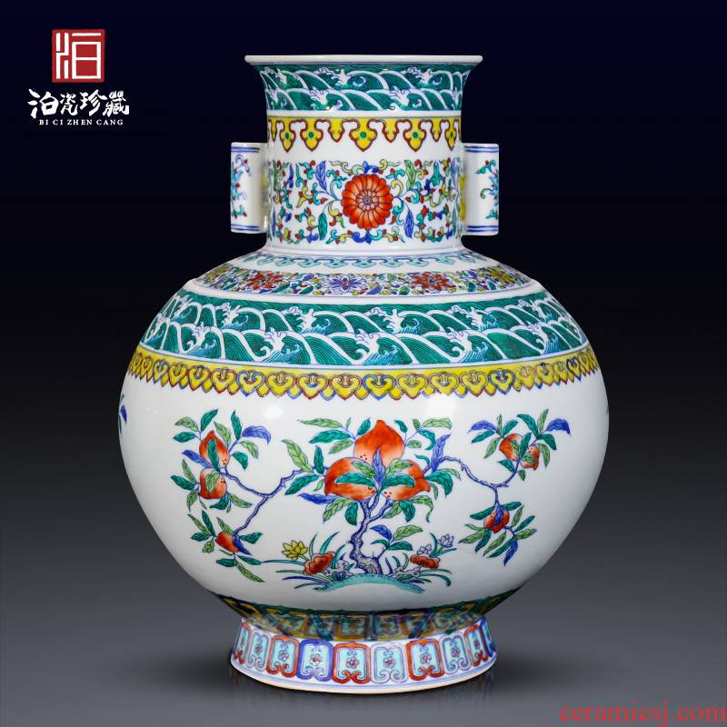 Jingdezhen ceramic color bucket many children f vases, new Chinese style living room TV ark, home decor collection furnishing articles