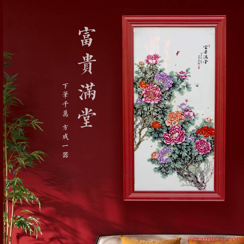 Jingdezhen ceramics adornment of modern new Chinese style living room porch wall act the role ofing to hang decorations furnishing articles