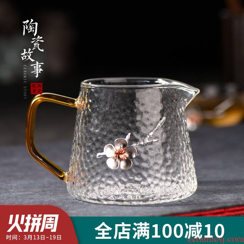 Household ceramics fair story cup glass kung fu tea tea accessories Japanese heat points) a body suit