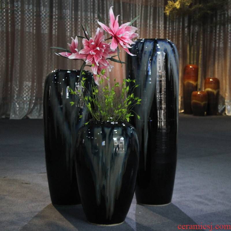 Ceramic vase flowerpot example room hotel club of large vases, flower arranging European sitting room place pot cylinder