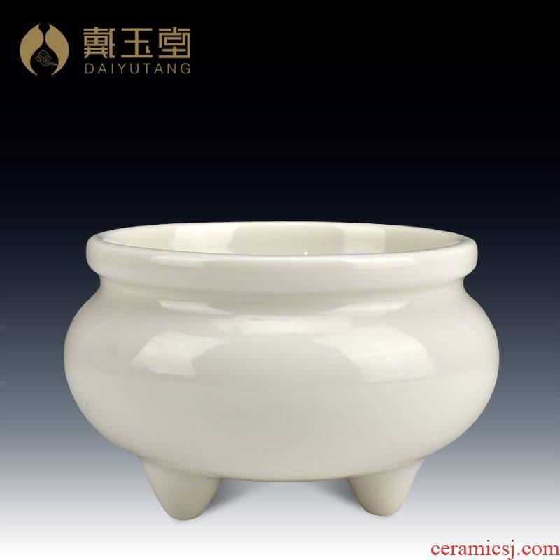 Yutang dai ceramic Buddha with supplies home interior for Buddha enshrined joss stick incense buner aroma stove/antique three feet